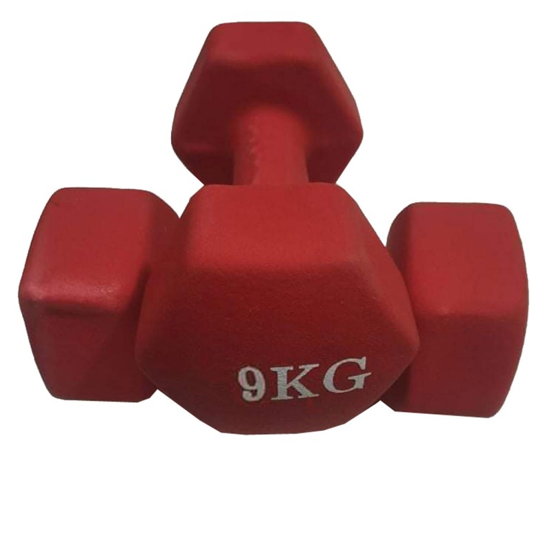 9kg Luxury Vinyl Dumbbells